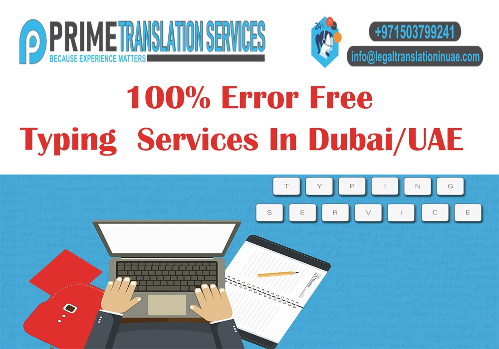 100% Error free Typing Services