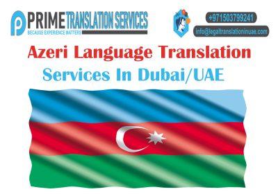 Azerbaijani Translation Dubai