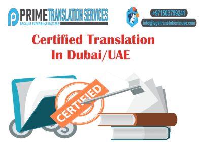 Certified Legal Translation Dubai