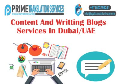 Content and Blogs Writing Services in Dubai