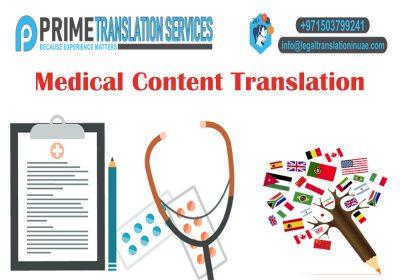 Medical Content Translation Dubai