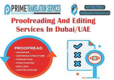 Proofreading & Editing Services Dubai